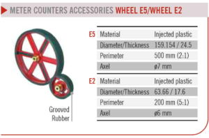 EMiT LENGTH METER COUNTERS ACCESSORIES WHEEL E5/WHEEL E2