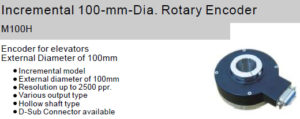Fox Incremental 100-mm-Dia. Rotary Encoder M100H Hollow shaft type