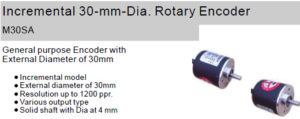 Fox Incremental 30-mm-Dia. Rotary Encoder M30SA Ultra Small, Space saving