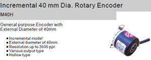 Fox Incremental 40 mm Dia. Rotary Encoder M40H Hollow shaft type