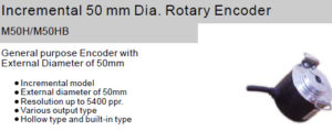 Fox Incremental 50 mm Dia. Rotary Encoder M50H/M50HB Hollow shaft type/Built-in type