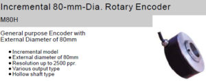 Fox Incremental 80-mm-Dia. Rotary Encoder M80H Hollow shaft type