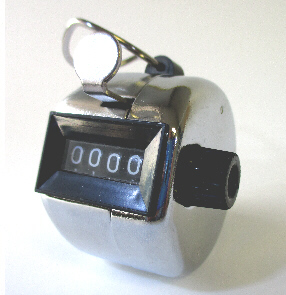 Fox AMT-1100 4 Digit Steel Chrome Hand Tally Counter